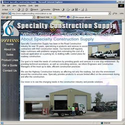 Specialty Construction Supply's new site